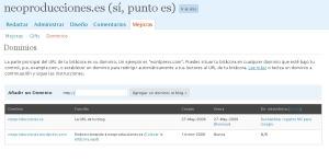 Gestión de dominios en WordPress